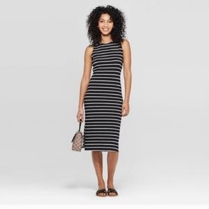 A New Day striped sleeveless slip on dress
